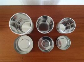 Blikjes set van 3. Kruiden afbeeldingen.