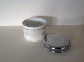 Brabantia thee blikje 8 cm. 60's.