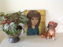 Decoratie. Portret van een meisje.