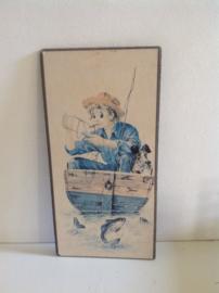 Decoratie. Vissen in een boot.