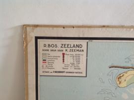 Wandkaart school. Zeeland.