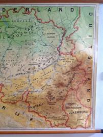 Erg oude schoolplaat.  België. Oro-hydrografisch.