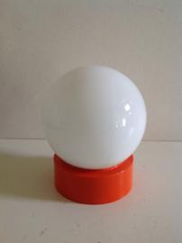 Plafonnière. Oranje / Wit.