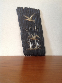 Decoratie. Vogels in het riet.