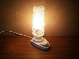 Tafellampje.  Wit en glas.
