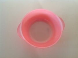 Arcopal. Pastel rood. Schaal 20 cm.