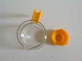 Theepot. Glas. Oranje. 70's.