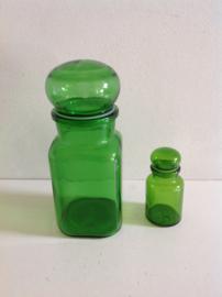 Stolpfles. Klein model. Groen. 70's.