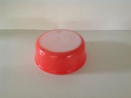 Arcopal. Schaal rond. Pastel rood. 18 cm.