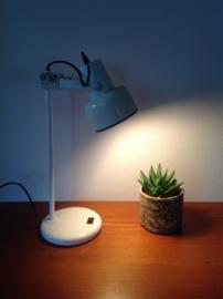 Bureau-/tafellamp. Wit, 80's.