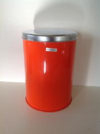 Brabantia chipsblik. Oranje. 70's.
