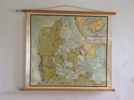 Oude schoolplaat.  Denemarken IJsland. 1953.