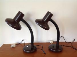 Bureau-/tafellamp. 80's. Massive.