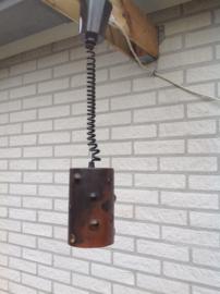 Nanny Still hanglamp. Voor RAAK. Koper/glas.