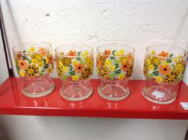 Set van 4 glazen.