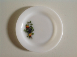 Bord. Arcopal. Fruits de France. 29 cm doorsnee.