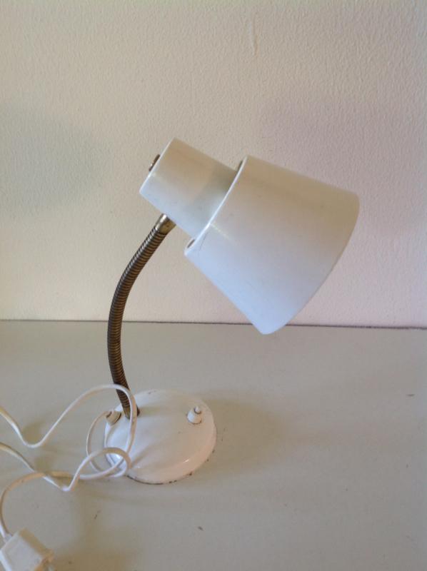 Bureaulamp. Wit. Anvia. 60's.