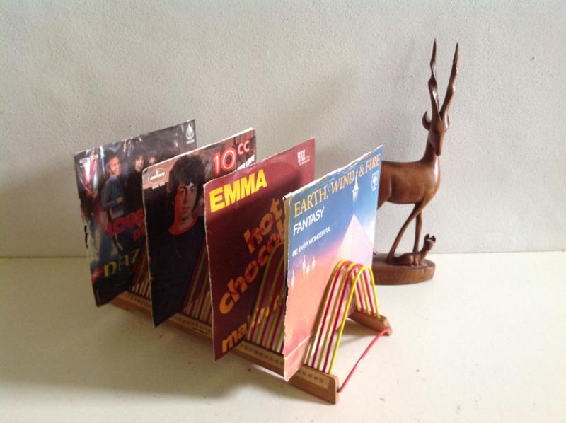 Opbergrek voor vinyl singles. 60's / 70,s.