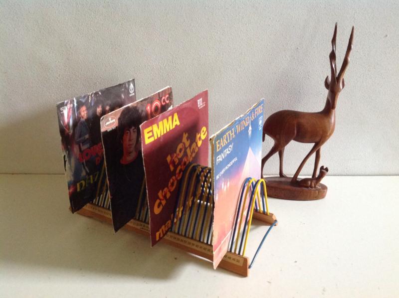 Opbergrek voor vinyl singles.  60's/70's.