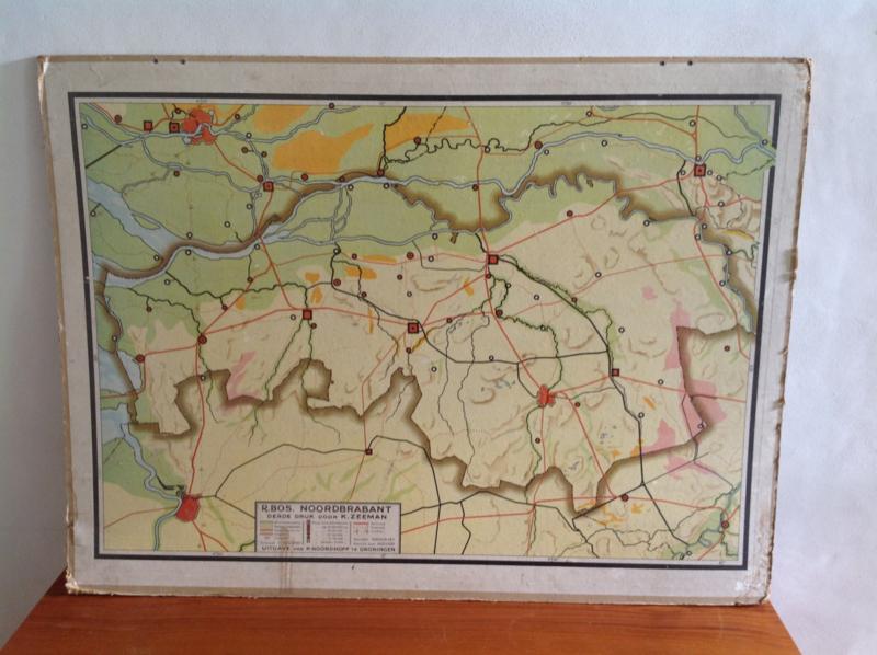 Wandkaart School. Noord-Brabant.