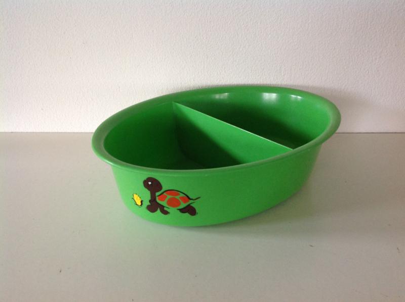 Waskom voor kinderkamer. Groen. 70's.