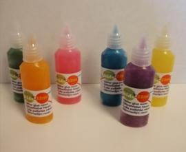 Set van 6 flesjes 22 ml  Neon Glue overig merk