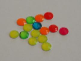 02-Ronde steentjes neon kleuren 8 mm (per 10)