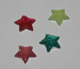 Ster-01 kleuren mix 15 mm (per 5)