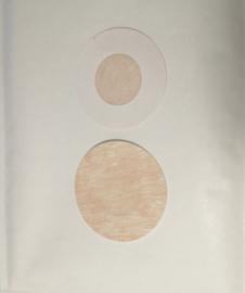 Tepelbedekker Rond  1 paar  (6 cm)