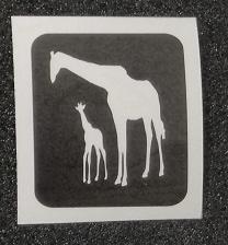 Giraf mama en baby