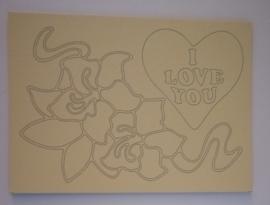 Love FLower  afmeting (12,5 x 17,5 cm)