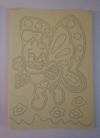 Vlinder -01   afmeting (12,5 x 17,5 cm)