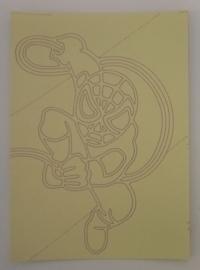 Spiderman -02 afmeting (12,5 x 17,5 cm)