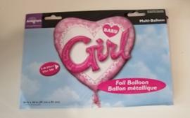 Hart ballon baby meisje 3D