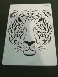 Tijger/Luipaard  schmink/Airbrush sjabloon XXL   21 x 29 cm