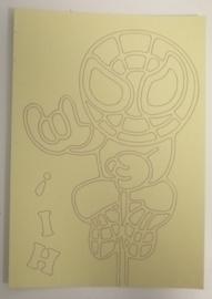 Spiderman -03 afmeting (12,5 x 17,5 cm)