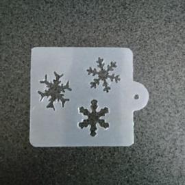 Sneeuw vlok  drietal