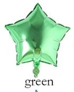 Folieballon  ster Groen 25 cm