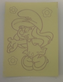 Smurf afmeting (12,5 x 17,5 cm)