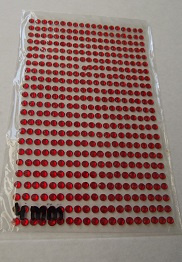 Rood steentjes 4 mm vel