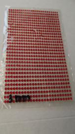 Rood steentjes 3 mm vel