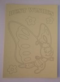 Vlinder -02   afmeting (12,5 x 17,5 cm)