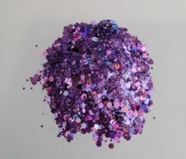 Chunky Glitters Paars/Lila 10 ML Eigen merk