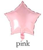Folieballon  ster Roze  25 cm