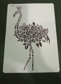 Flamingo  schmink/Airbrush sjabloon XXL   21 x 29 cm