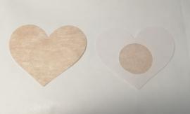 Tepelbedekker hart  1 paar  (7 x 6 cm)