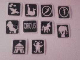 Circus-set 10 sjablonen