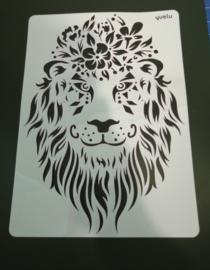 Leeuw  schmink/Airbrush sjabloon XXL   21 x 29 cm