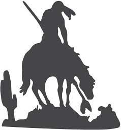 Indiaan-op paard xl