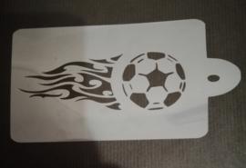 Voetbal & Vlammen XL Schmink & Airbrush Sjabloon